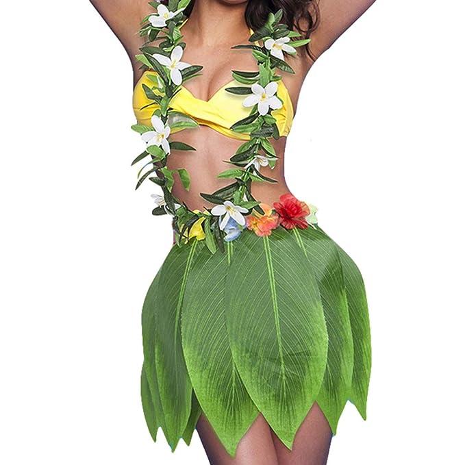 96458975e YAANCUNN Falda de Hierba de Hula de Niños Falda de Hierba Hawaiana  Accesorios para Festivales de Danza Falda de Playa  Amazon.es  Ropa y  accesorios