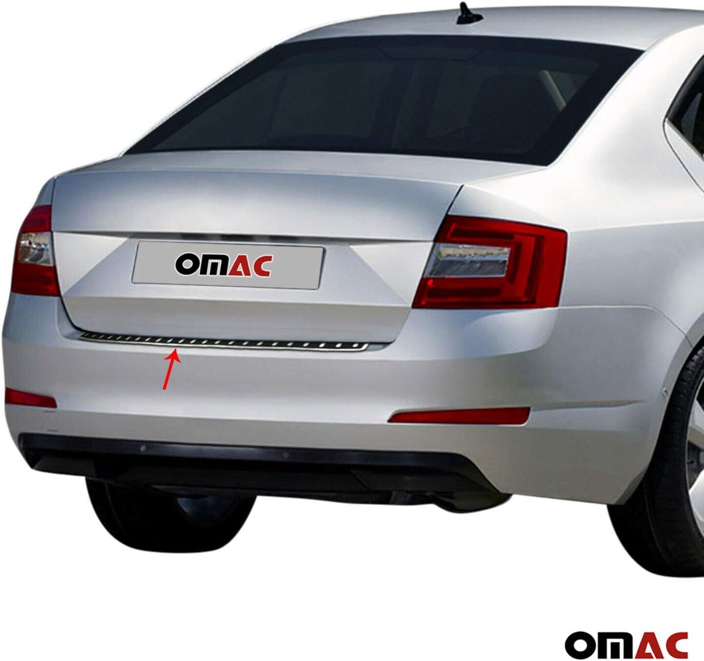 Protezione paraurti in acciaio inox cromato per Octavia III 2012-2020 con pellicola di carbonio