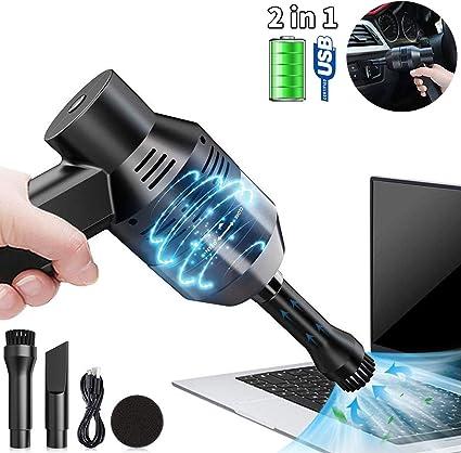 Aspiradora de teclado Podazz recargable mini USB inalámbrico Mini Aspiradora portátil para limpiar espacios estrechos de polvo, cabello, migas de pan teclados y casas de mascotas: Amazon.es: Oficina y papelería