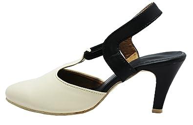 18c50b3c644d Women s High Heel Beige Office wear  Buy Online at Low Prices in India -  Amazon.in