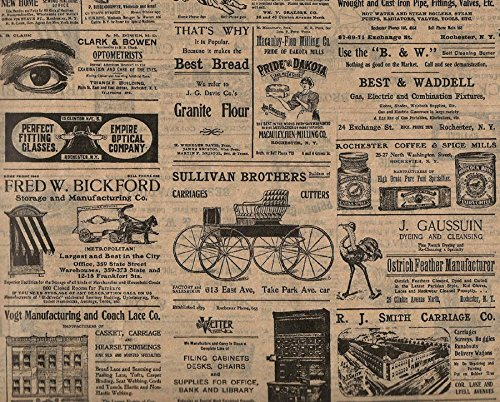 Inspiration for A Project Ornament Vintage Look ~ Rochester, NY Newsprint Ads ~ Tissue Paper # 507~10 Lrg Sheets DIY Rustic Primitive Decor Ideas from Decorative primitive & rustic crafting supplies