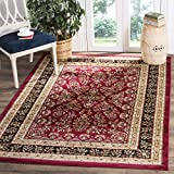 Safavieh Lyndhurst Collection LNH331B Traditional Oriental Red and Black Area Rug (8' x 11')