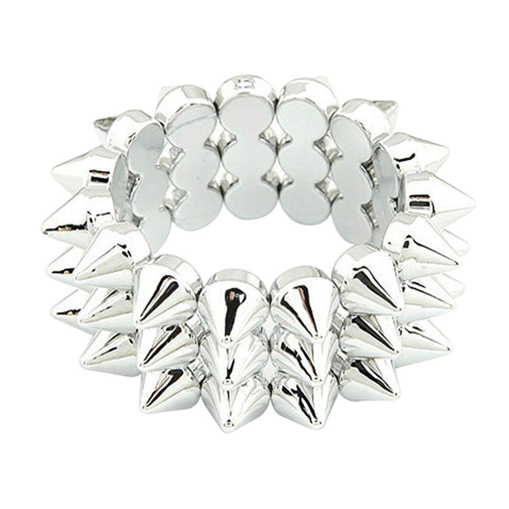 Oldlila Rivet Stretch Bracelet Silver Bracelets