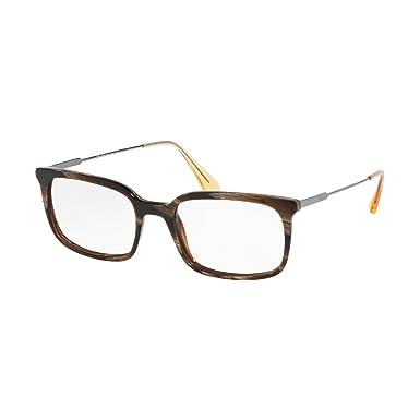 eec9d71f466e Prada PR 16UV Glasses in Dark Horn PR 16UV C9O1O1 53  Amazon.co.uk  Clothing