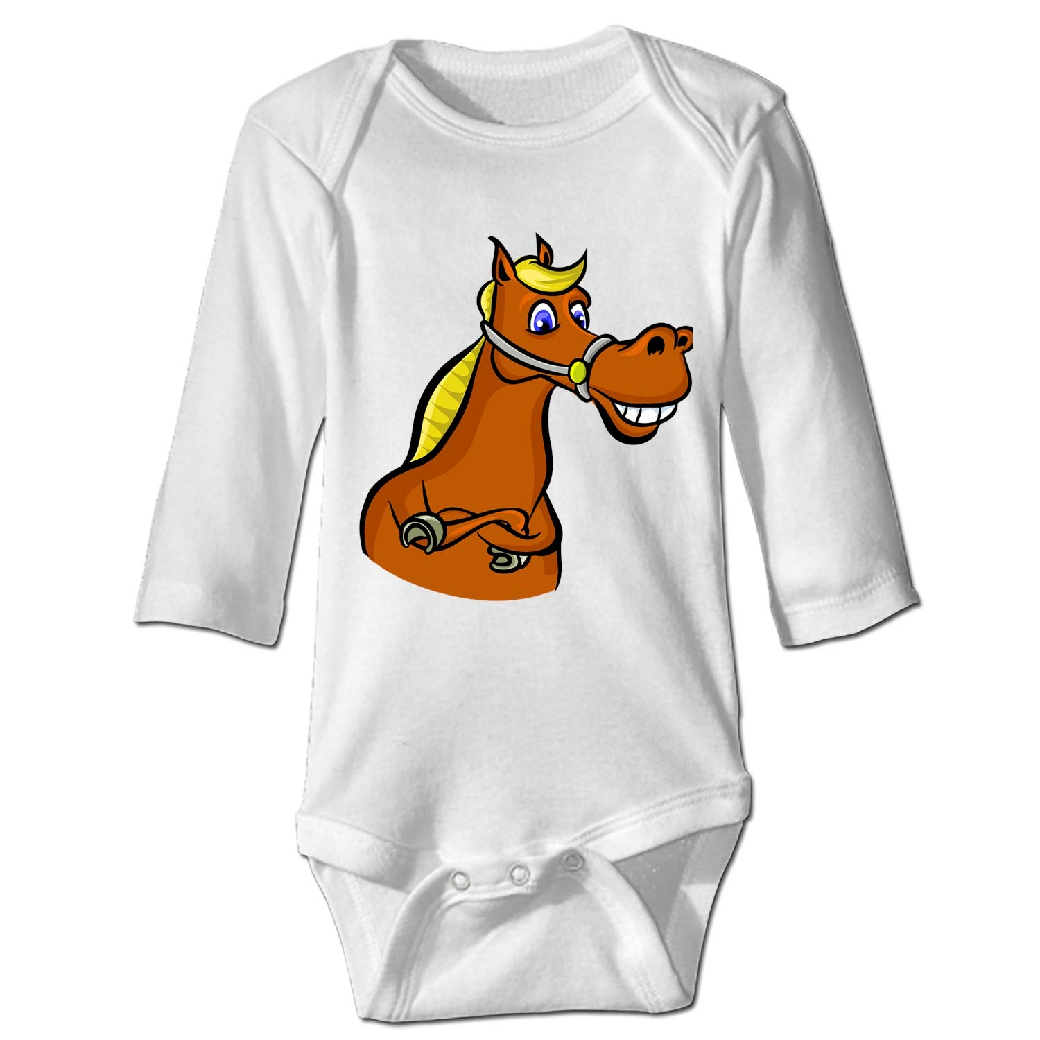 Imiss Colorful Cartoon Horse Baby Bodysuit One Piece Soft