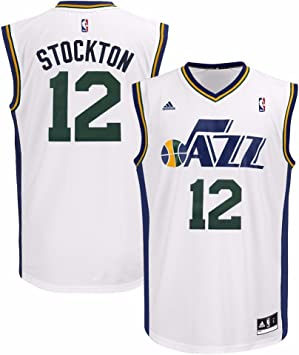 Amazon.com: adidas John Stockton Utah Jazz NBA - Camiseta ...