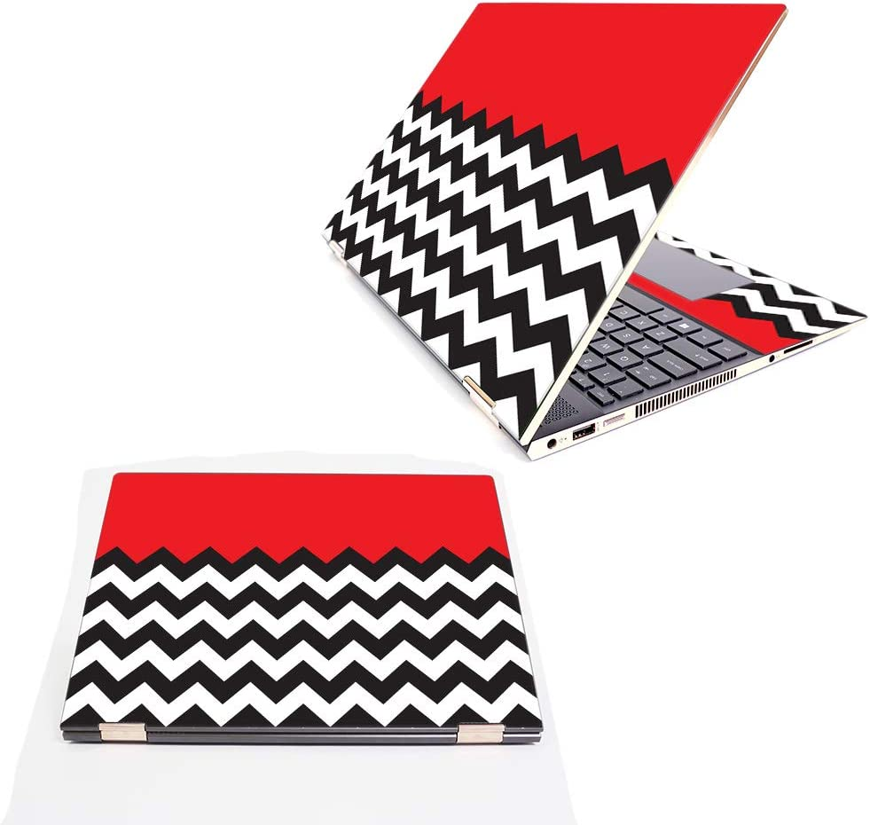 """MightySkins Skin Compatible with HP Spectre x360 15.6"""" (2018) - Red Chevron 