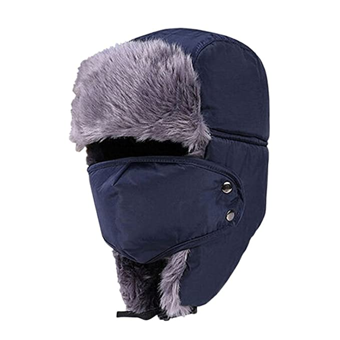 bf816249d993c9 Amazon.com: Lurrose Winter Hat with Ear Flaps Ushanka Hat Skiing ...