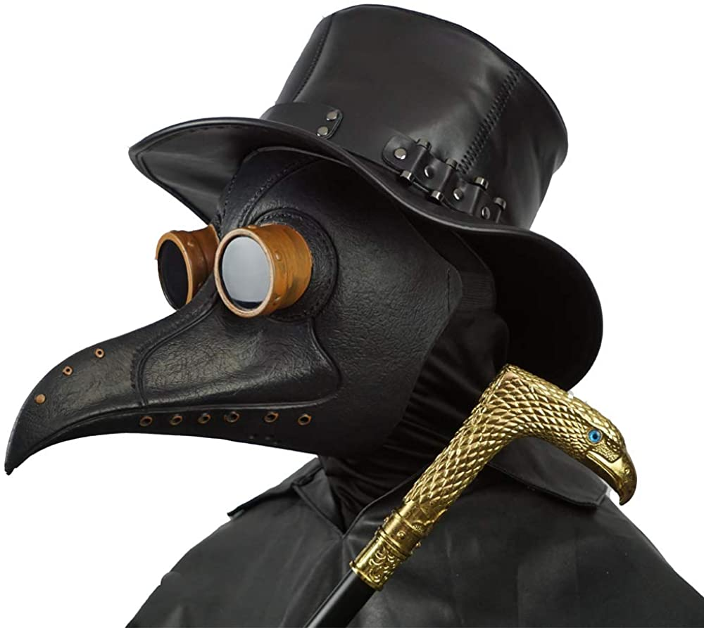 Adult/'s Scarecrow Medico Purple Party Festival Tie Mask Costume Accessory