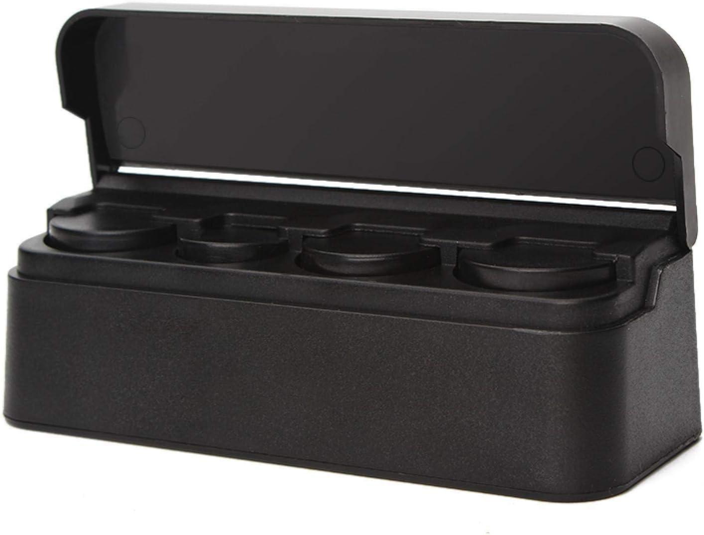 LYD Coches Orginazer Monedero Caja de Almacenamiento Contenedor de Coche Soporte de Monedas Negro Estilo Coche Accesorios Autom/óviles de Pl/ástico