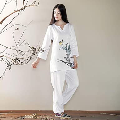 Amazon.com: KSUA - Traje de meditación para mujer de algodón ...