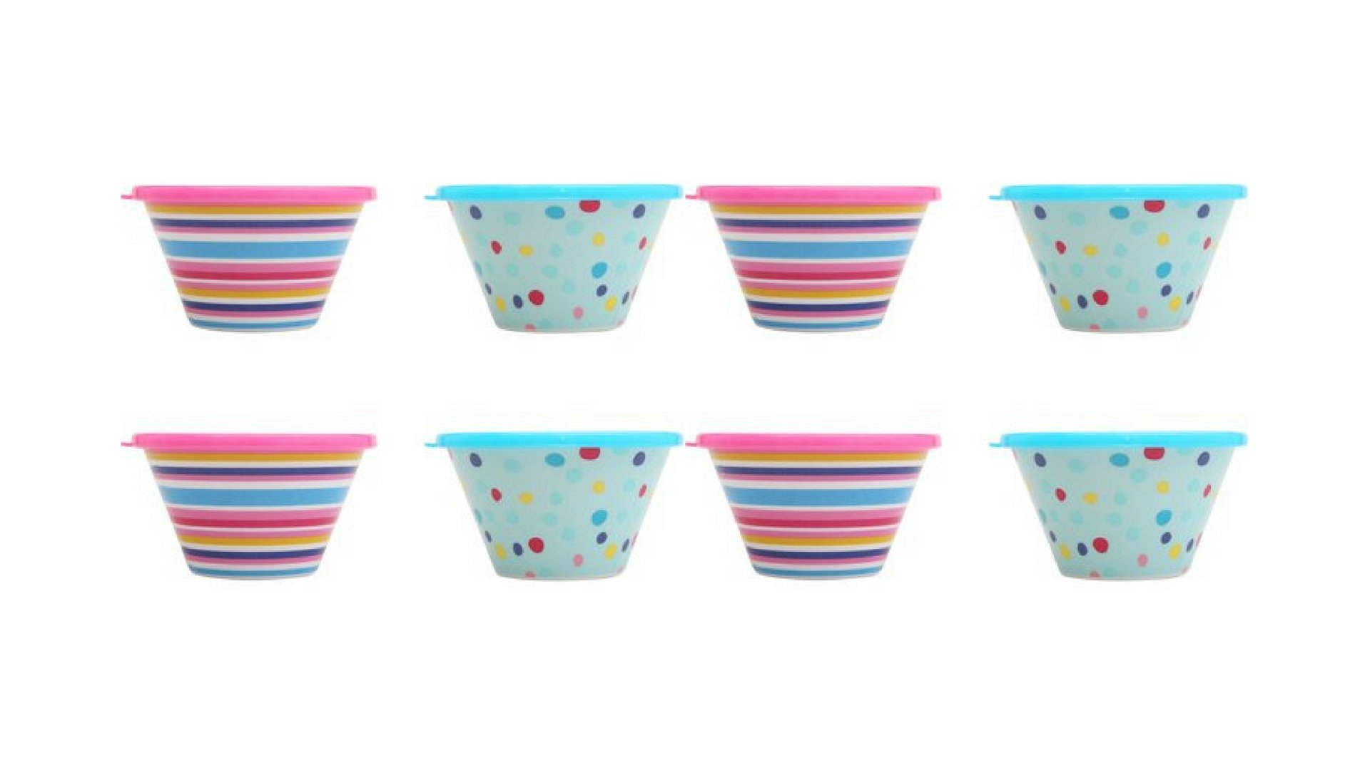 Kids 8-Pack Melamine Summer in the Sun Berry Bowl with Lid