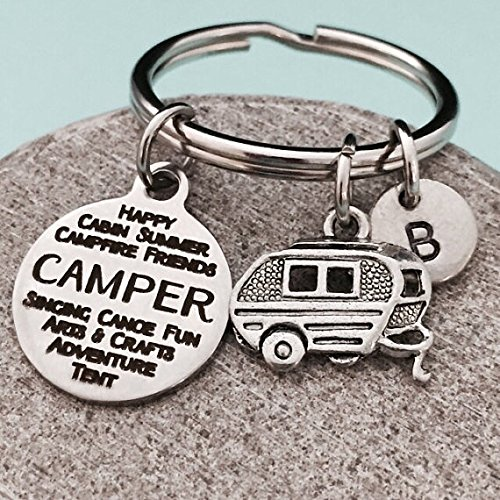 amazon com camper keychain camper charm camping keychain