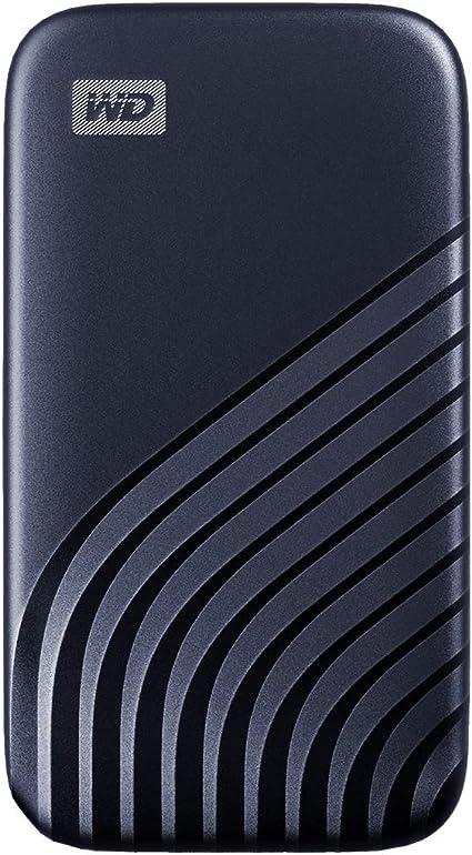 USB-C WD My Passport SSD 500GB tecnolog/ía NVMe Azul medianoche velocidad de lectura hasta 1050MB//s /& de escritura hasta 1000MB//s