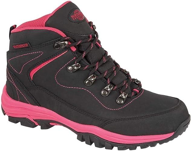LADIES NORTHWEST TERRITORY LEATHER LIGHTWEIGHT WATERPROOF WALKING BOOT SIZE 5 !!