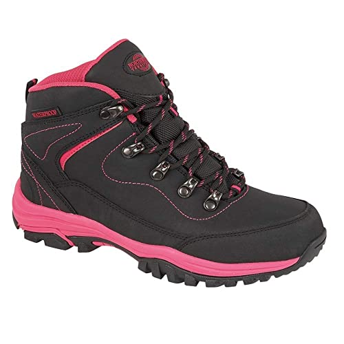 66f7c7f4cfd LADIES LEATHER LIGHTWEIGHT WATERPROOF WALKING HIKING TREKKING ANKLE BOOTS SHOES  SIZE 3 4 5 6 7
