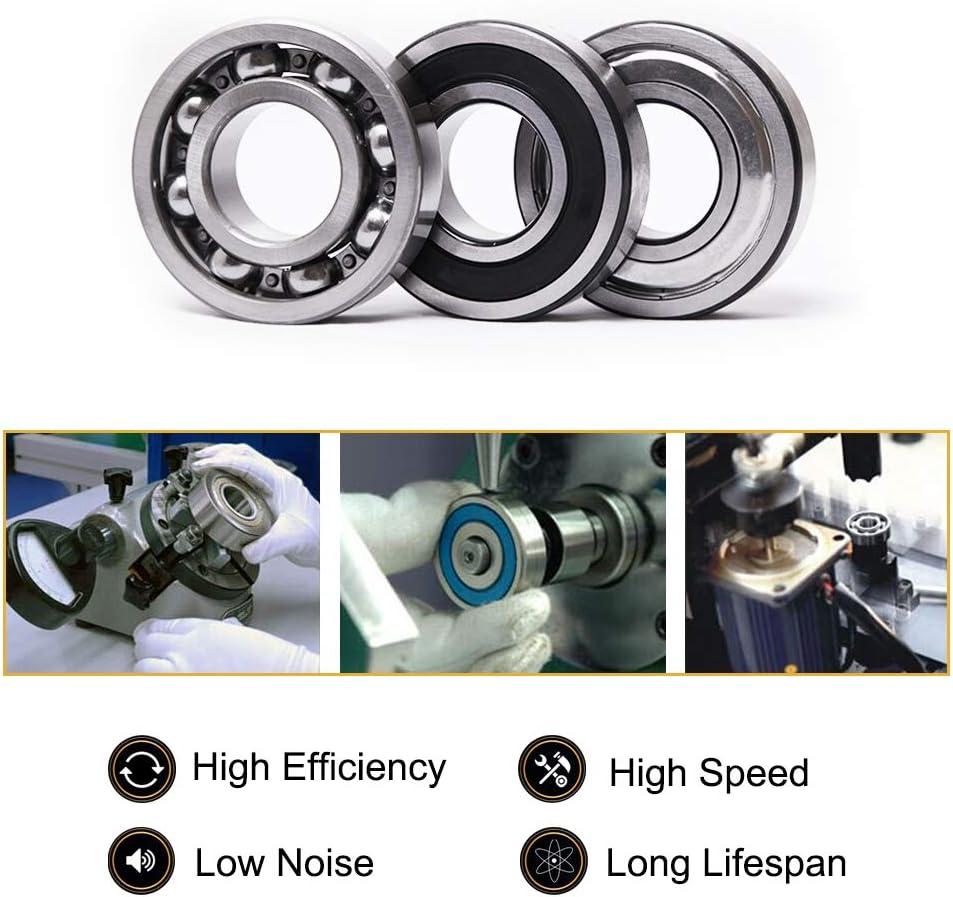 10 mm x 30 mm x 9 mm rodamientos de acero al carbono Pack de 2 Sourcing Map 6200Z: rodamiento de bolas de ranura profunda 6200ZZ80200