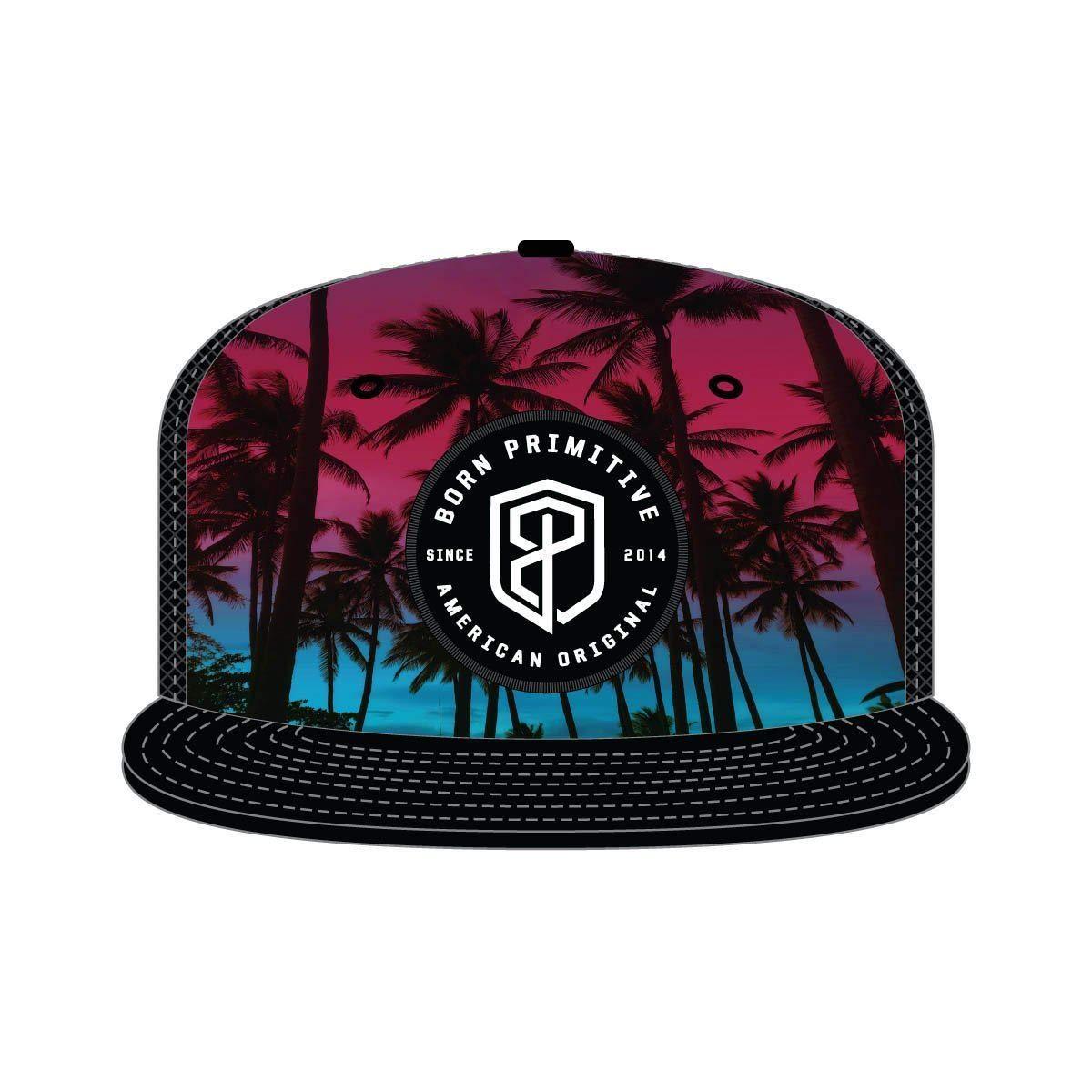American Original Snapback Hat Midnight Palm