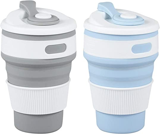 350ML Portable Silicone Collapsible Coffee Tea Cup Folding Reusable Pocket @ VOVA