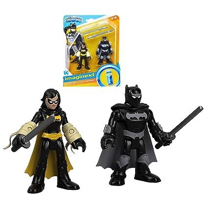 Amazon.com: Imaginext Black Bat & Ninja Batman Streets of ...