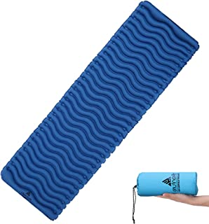 HIKENTURE Ultralight Sleeping Pad,Backpacking Inflatable Sleeping Mat,Skin-Friendly Fabric Camping Pad