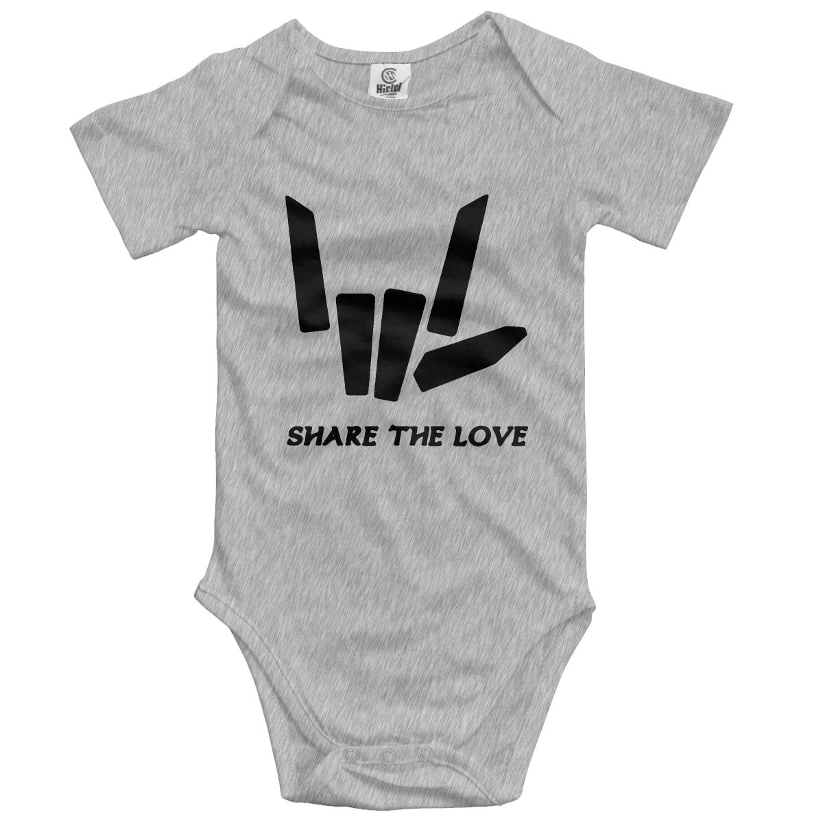 Share The Love Baby Romper 0-18 Months Newborn Baby Girls Boys Layette Rompers Pink