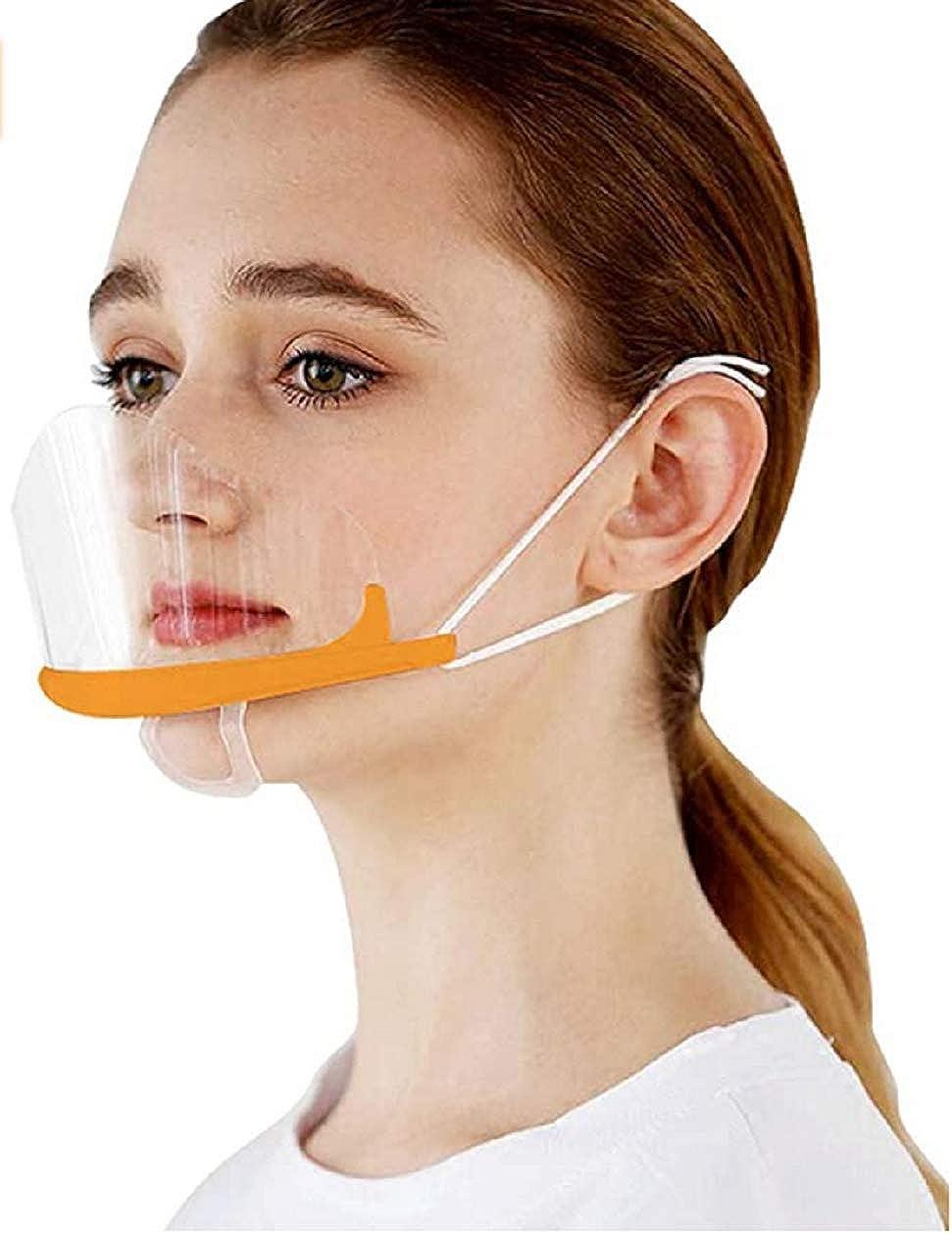 Minasan - 10 mascarillas abiertas transparentes para uso en restaurantes, maquillaje permanente y catering