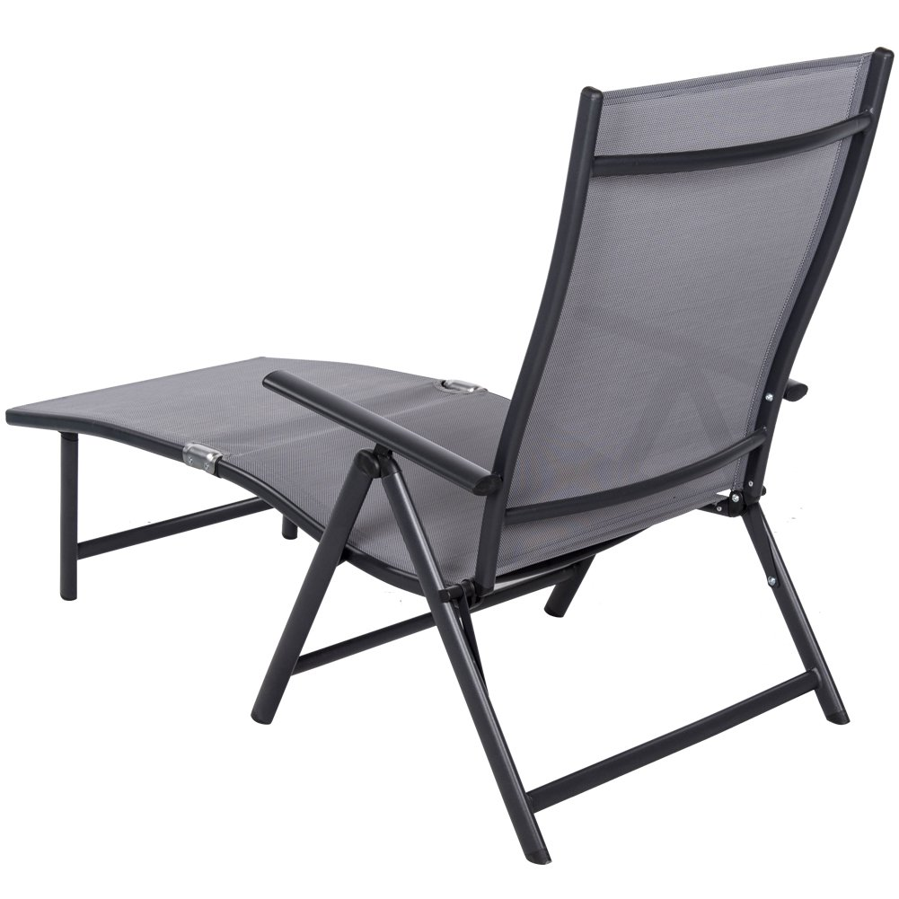 Amazon.com : Sundale Outdoor Deluxe Aluminum Beach Yard Pool Folding Chaise Lounge  Chair Recliner Outdoor Patio : Garden U0026 Outdoor