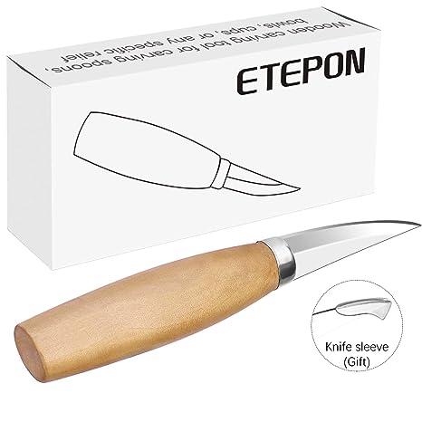 Cuchillo de madera ETEPON para tallar, herramienta de ...