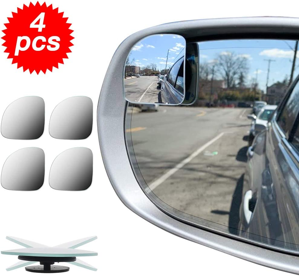 Blind Spot Mirror, 4PCS Fan-Shaped Automobile Rear Blind Spot Mirror, Convex Rearview Mirror for Cars Motorcycles Trucks RV and Van