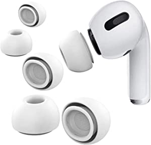 Airpod Pro Replacement Earbud Ear Tips Covers for Apple Airpods 3 - Small, Medium and Large (White)