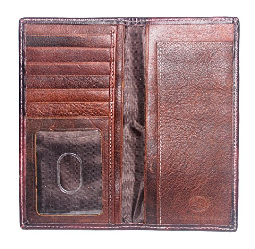 Custom Wallet Lone Flag Distressed Star 12 Texas with Gauge Long r67qrwxpP