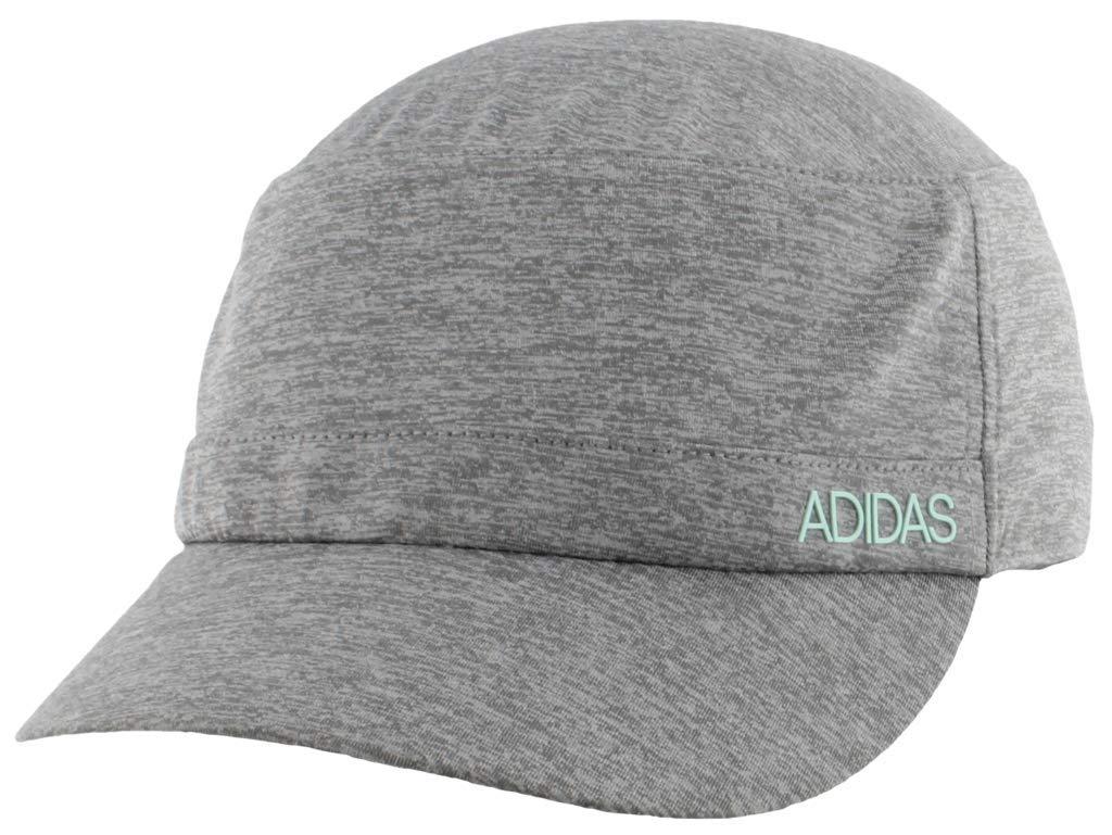 adidas Women's Sport2Street Adjustable Military Cap, Grey - Clear Onix Heather/Clear Mint, One Size