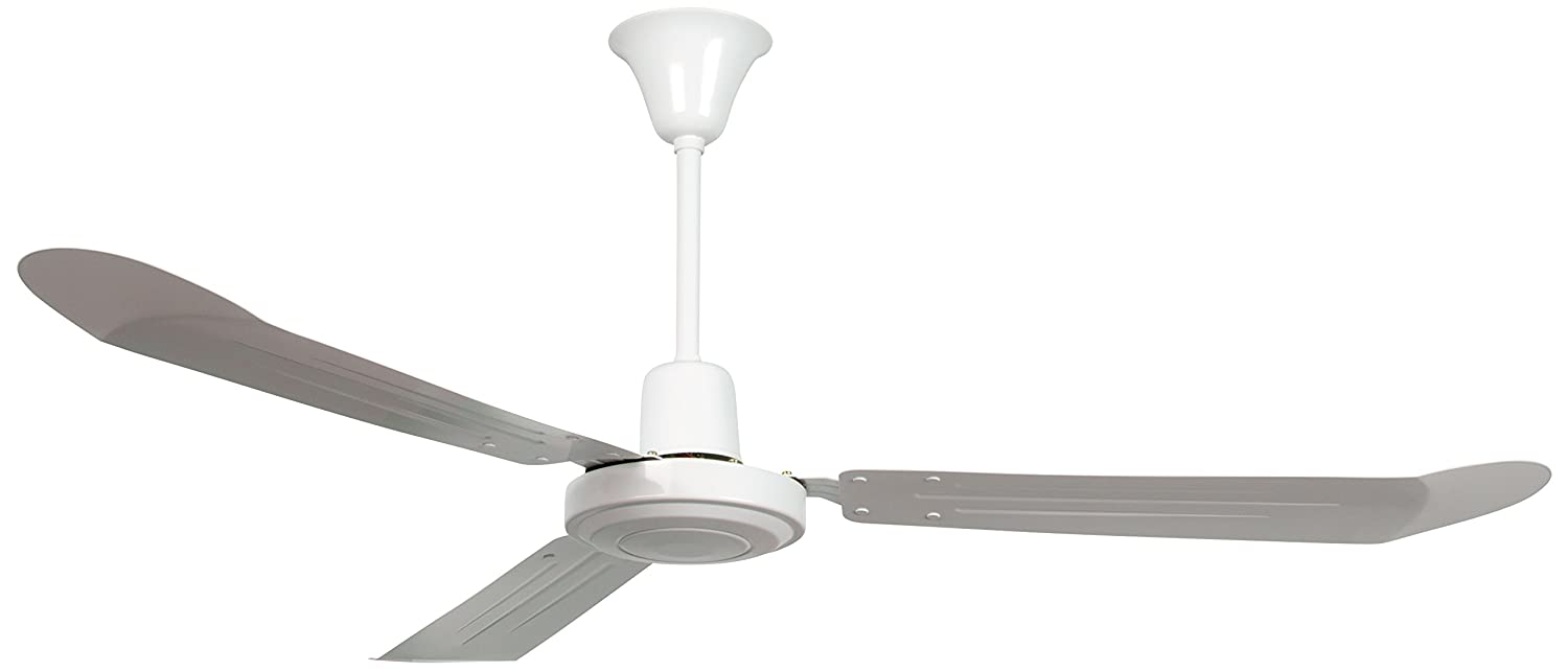 Litex Ut56tbc3m Utility Collection 56 Inch Ceiling Fan With Wall Control Three Titanium Blades And Brushed Chrome Finish Modern