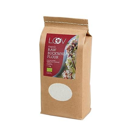 Harina orgánica de Trigo Sarraceno Crudo Sin Gluten, 1 kg, Sin Tratamiento Térmico, Todos Los Nutrientes Conservados, Delicioso Sabor a Avellana, ...