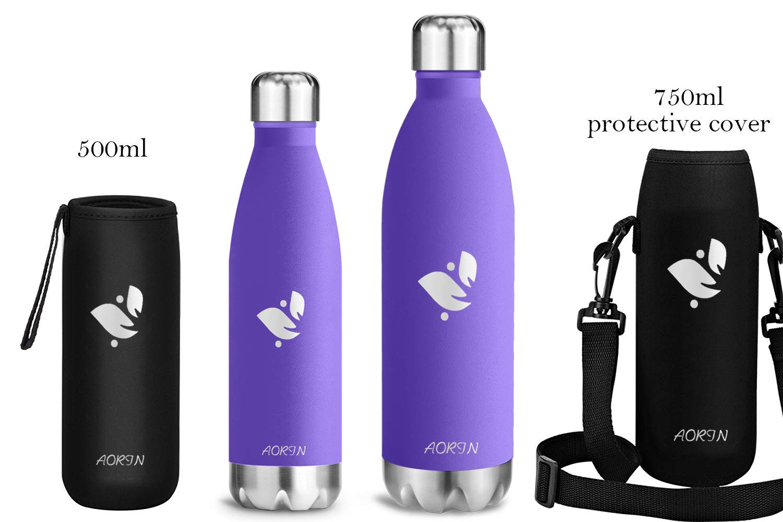 Facile da Pulire AORIN Doppia Bottiglia per Vuoto in Acciaio Inossidabile Resistente ai Graffi processo di verniciatura a Polvere