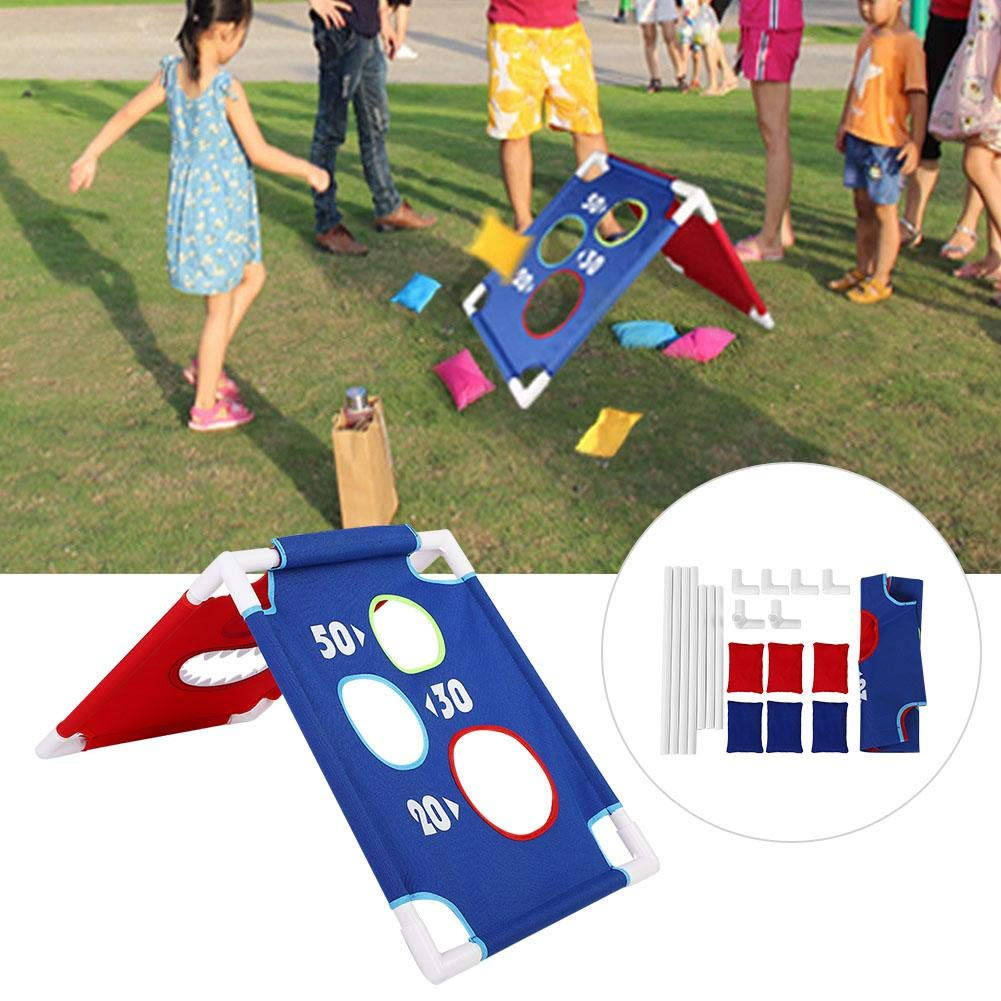 VGEBY1 Bean Bag Toss Game Set, Throwing Bean Bag Game Board Portable Toss Across Set of 1 Board and 6 Beanbags for Indoor Outdoor Play by VGEBY1 (Image #7)
