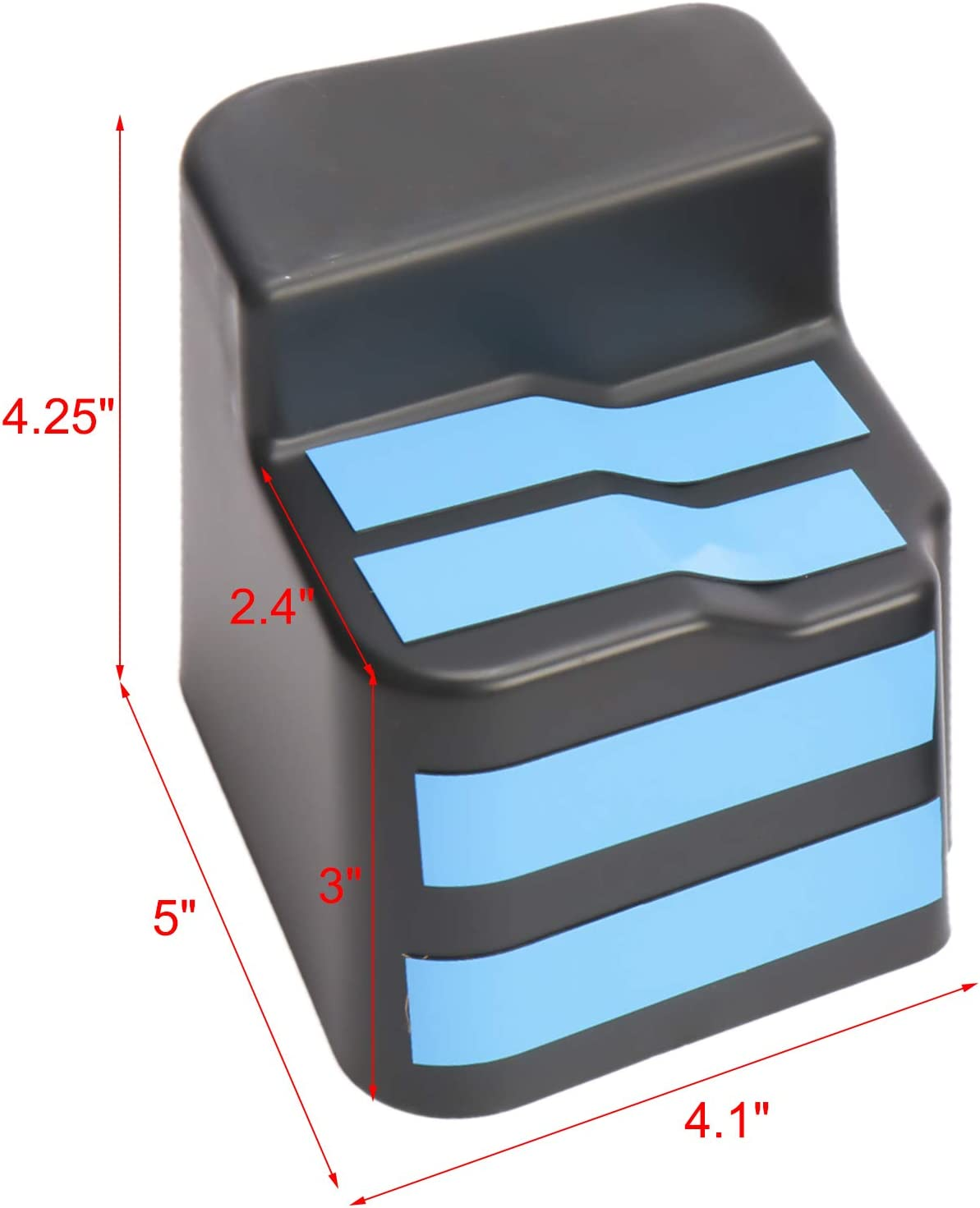 NovelBee 2 Pack of Rear Seat Side Storage Tray Organizer Box Fit for 2018-2020 Jeep Wrangler JL 2020 Jeep Gladiator JT