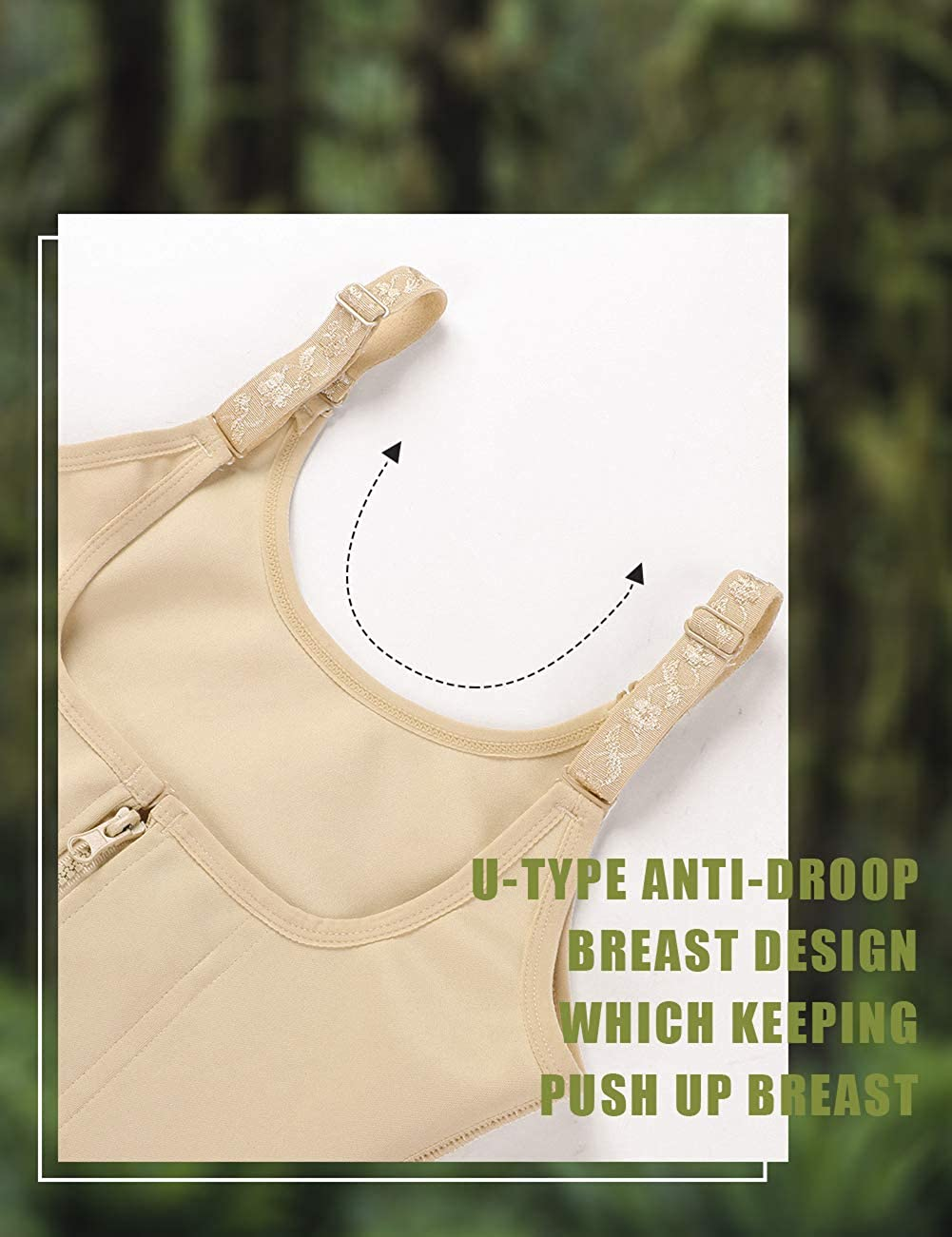 FeelinGirl Women/'s Zipper Waist Trainer Corset for Weight Loss Tummy Control Body Shaper Vest Skin XL