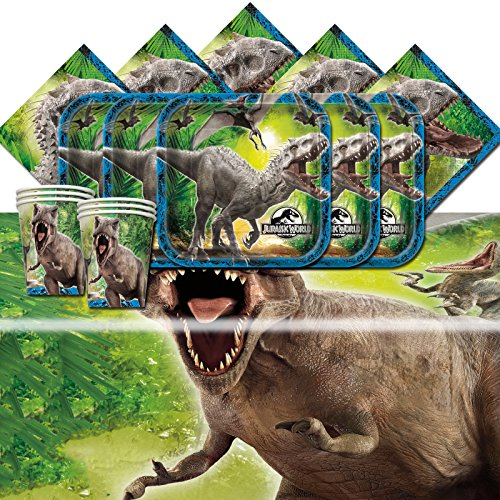 Jurassic World Park Dinosaurs Birthday Complete Party Tableware Pack For 16