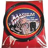 Magnum BYO Build-Your-Own DOT Single Disc Brake Line Kit with 6ft Brake Line - 90 Deg Banjo - Black 496190A