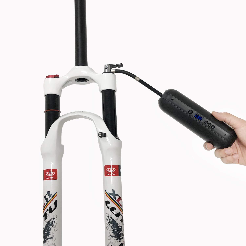 CYCPLUS Luftpumpe Elektrischer Kompressor Tragbar Fahrradpumpe Mini Reifenpumpe mit Digital LCD LED Licht Wiederaufladbarer Li-ionen I50PSI 12V f/ür Auto Fahrrad RV Motorrad Schwarz MEHRWEG