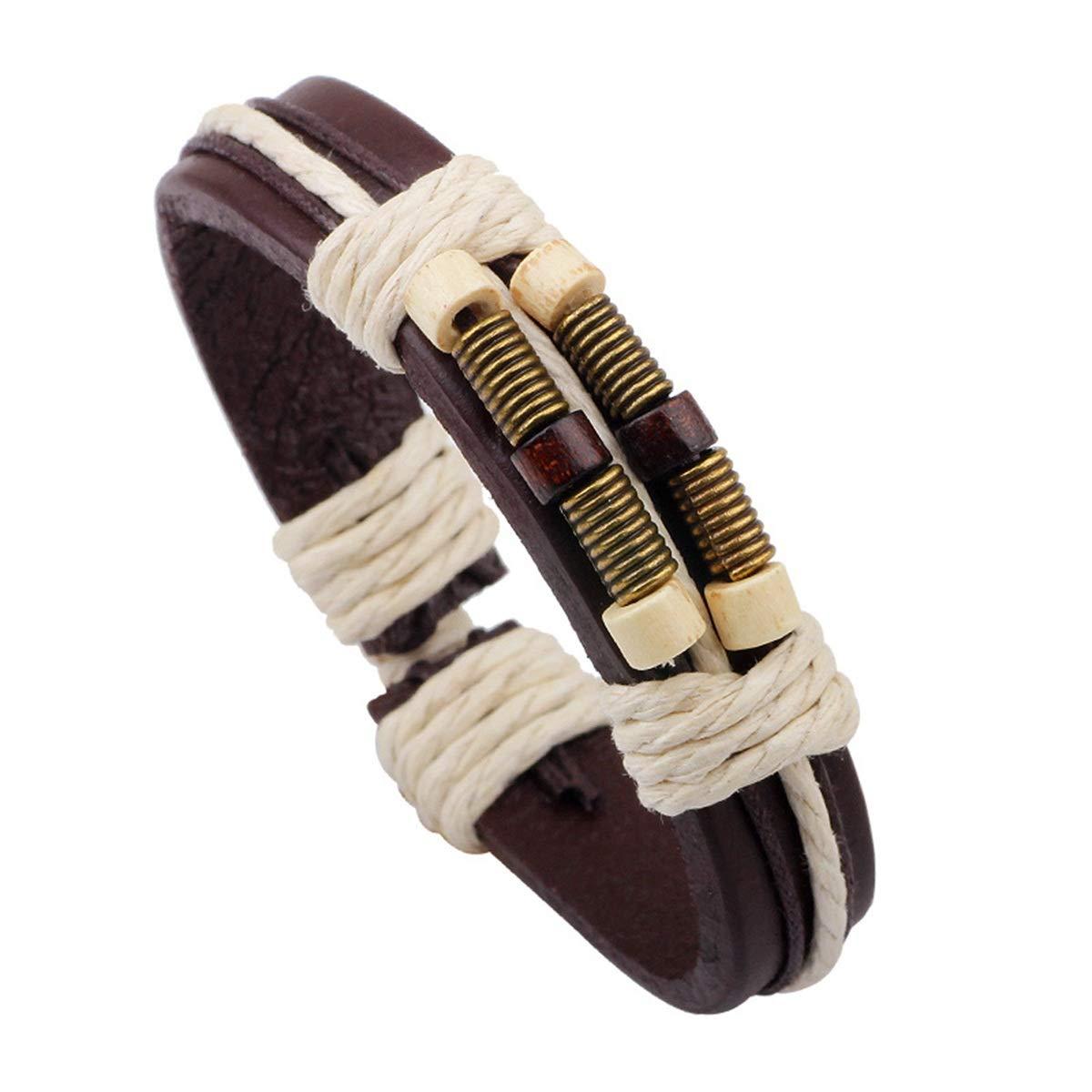 Haisiluo Personalized Bracelet Wooden Bead Bracelet Handmade Woven Bracelet