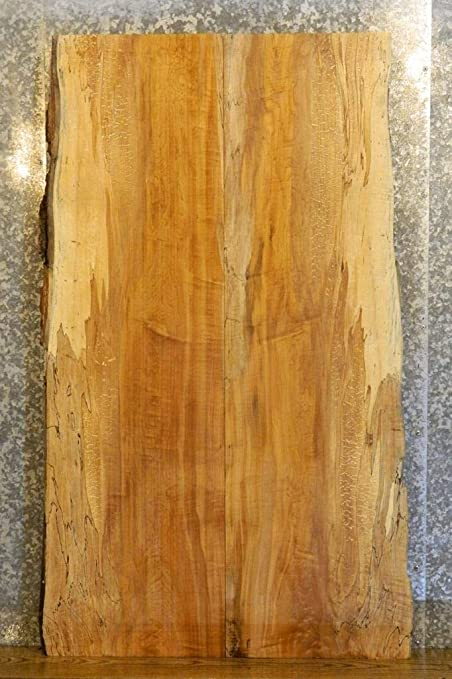 2- Kitchen Table Top Natural Edge Bookmatched Spalted Maple ...