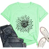 Photography T-Shirts Women Camera Floral Graphic Funny Casual Tee Tops
