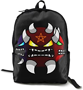 Geometry Dash Unisex Backpack Laptop for Travel School Outdoor Hiking Bag
