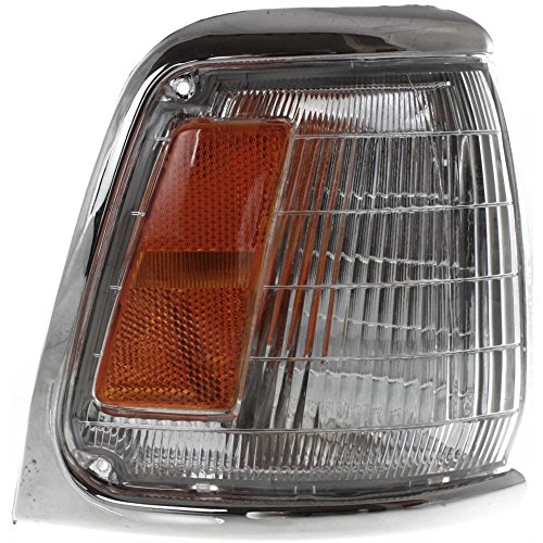 Corner Light Compatible with Toyota Pickup 89-91 Corner Lamp RH Assembly W/Chrome Trim 2WD Right Side