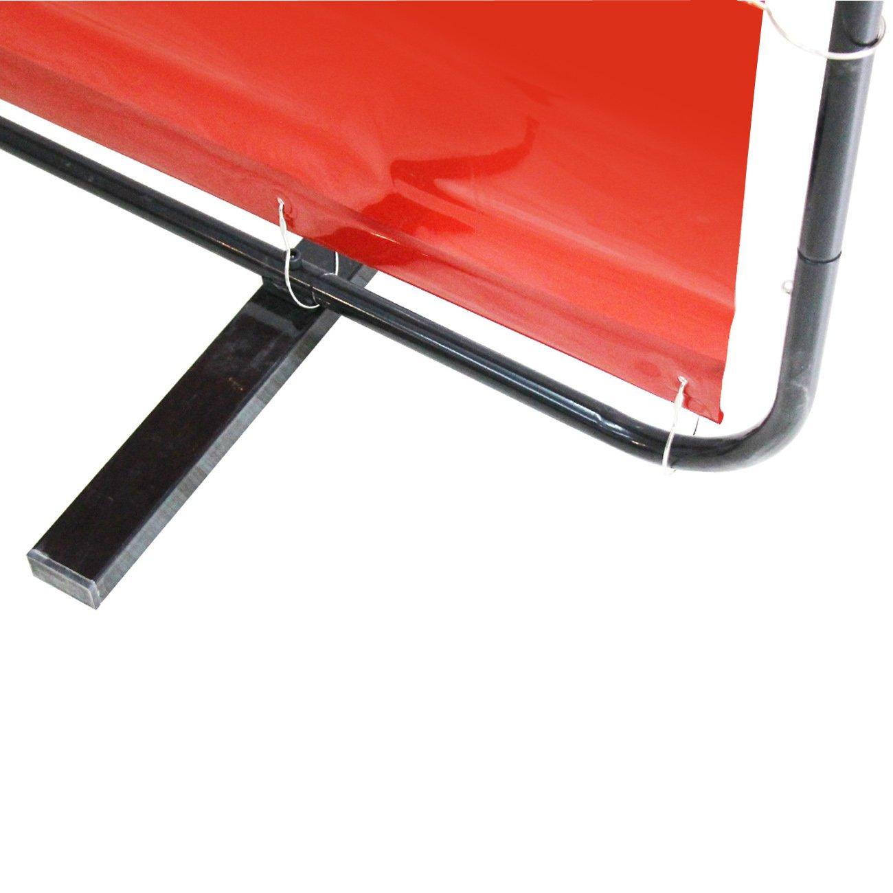 VIZ-PRO Red Vinyl Welding Curtain/Welding Screen With Frame, 6' x 6' by VIZ-PRO (Image #5)