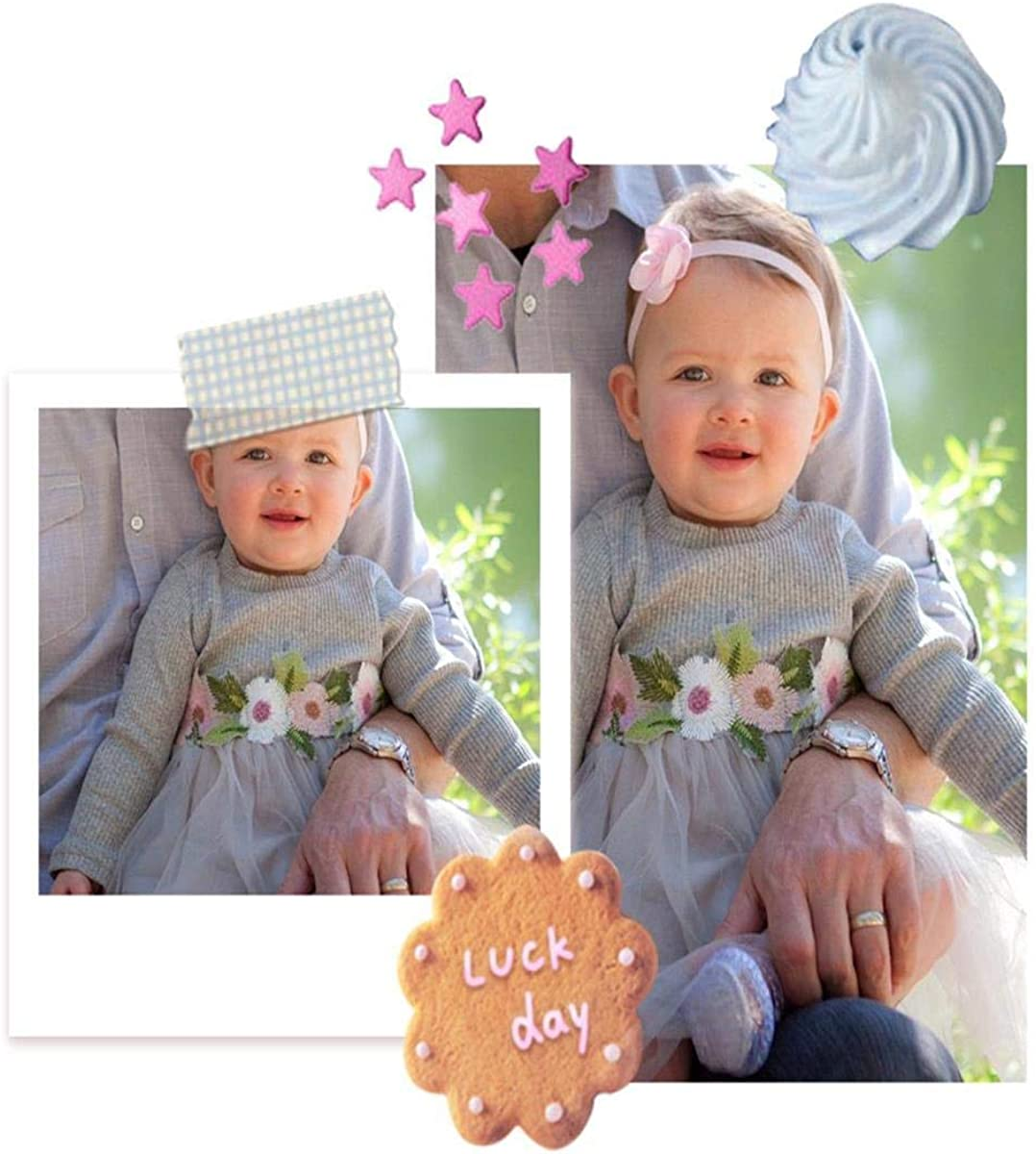 Newborn Toddler Baby Girl Dresses Floral Tutu Skirt Knitted Tulle Polka Dot Princess Fall Outfits Clothes