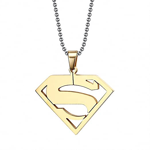 Fashion 18k gold plated superman pendant necklaces jewelry for men fashion 18k gold plated superman pendant necklaces jewelry for men women mozeypictures Gallery